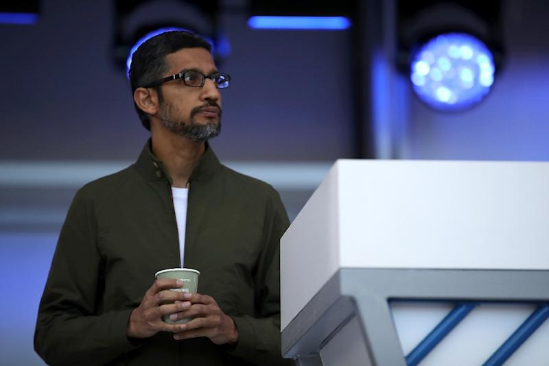 Google CEO Sundar Pichai promised more transparency in dealing with allegations of sexual misconduct (AFP Photo/JUSTIN SULLIVAN)