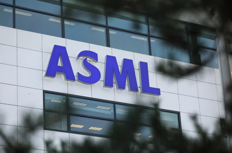 ASML Holding logo is seen at company's headquarters in Eindhoven