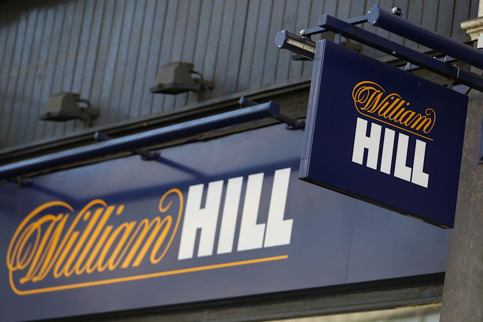 File photo dated 4/7/2019 of a branch of William Hill, Ludgate Hill, in central London. The gambling giant has confirmed it has received two separate takeover bids from private equity giant Apollo and casino group Caesars Entertainment. The betting business said it received a written proposal from Apollo on August 27, before receiving further proposals from each party.