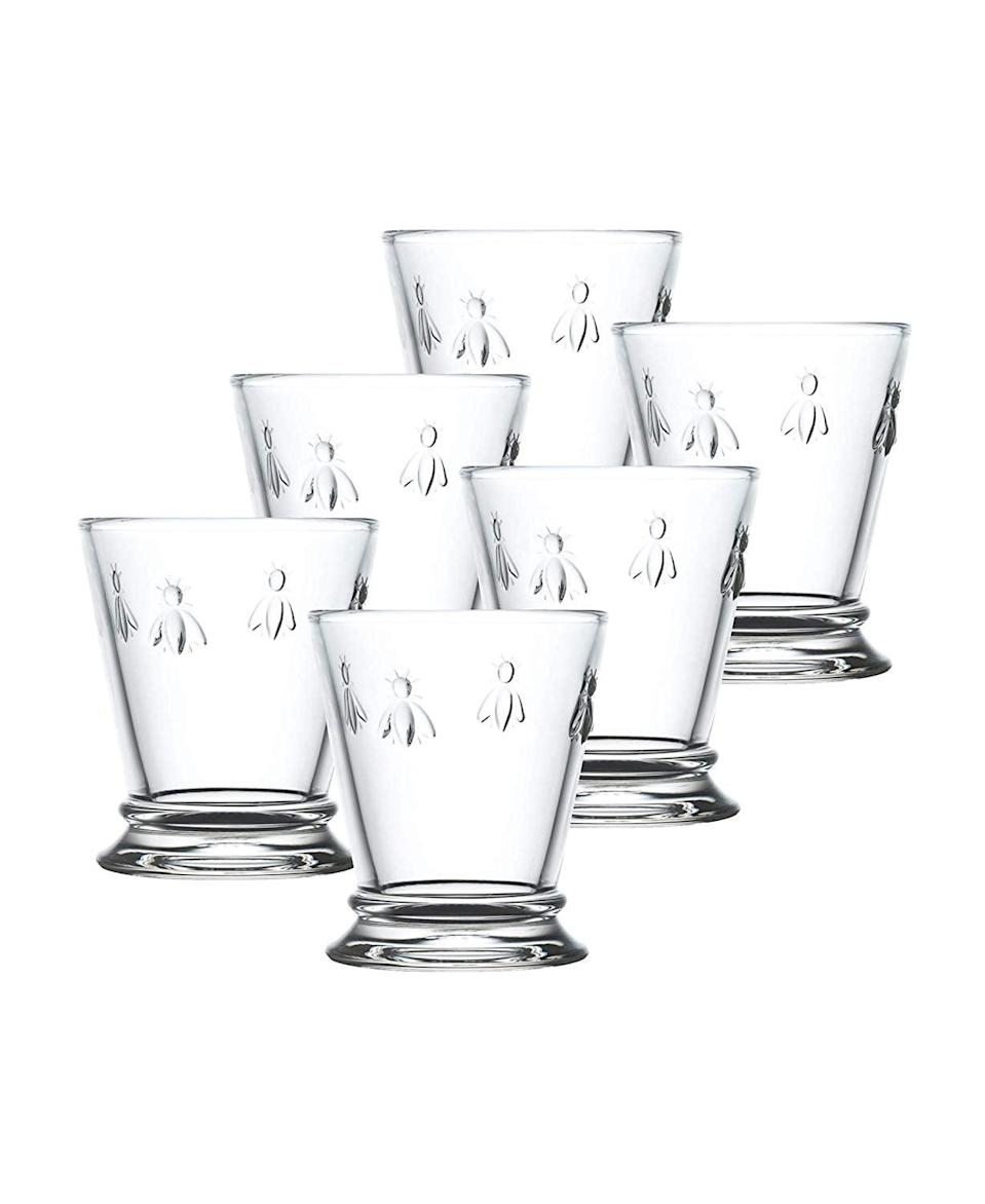<p>You can drink just about anything out of these beautiful <span>La Rochere Napoleon Bee Tumblers</span> ($54, originally $75 for 6).</p>