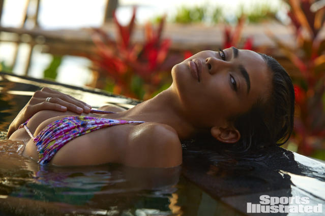 <p>Kelly Gale was photographed by James Macari in Sumba Island. Swimsuit by STORM SWIMWEAR.</p>