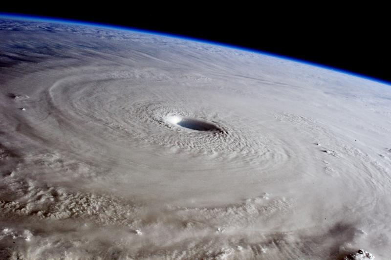 The eye of Super Typhoon Maysak is photographed from the International Space Station (ISS), on March 31, 2015 (AFP Photo/-)