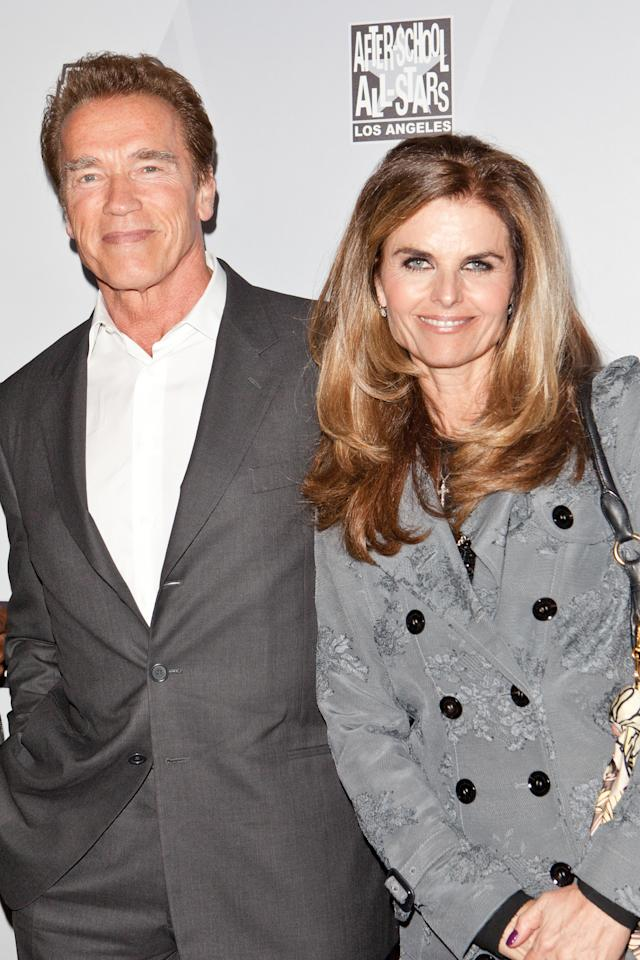 <p>It's been six years since Maria Shriver filed for divorce, yet she's still legally married to the former governor. Months after it was revealed that Schwarzenegger had a secret love child, the businesswoman decided to end her marriage. The couple shares two children who are no longer minors, so custody isn't what's holding the process up; rather, it's how to divide their property and $400 million fortune. (Photo: Getty Images) </p>