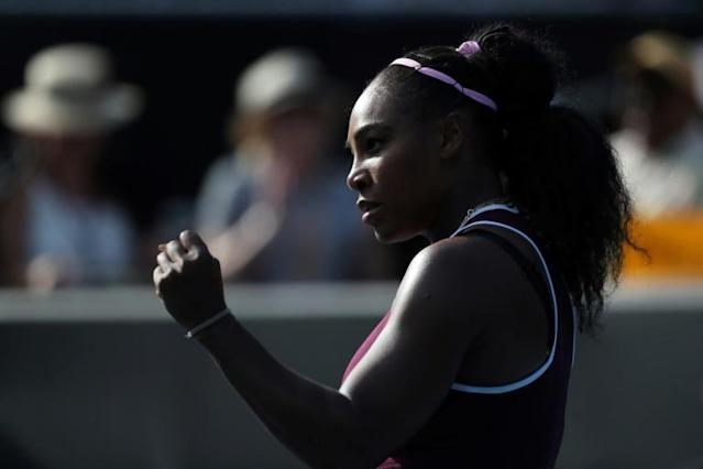 Serena Williams broke a three-year title drought last week in Auckland (AFP Photo/MICHAEL BRADLEY)
