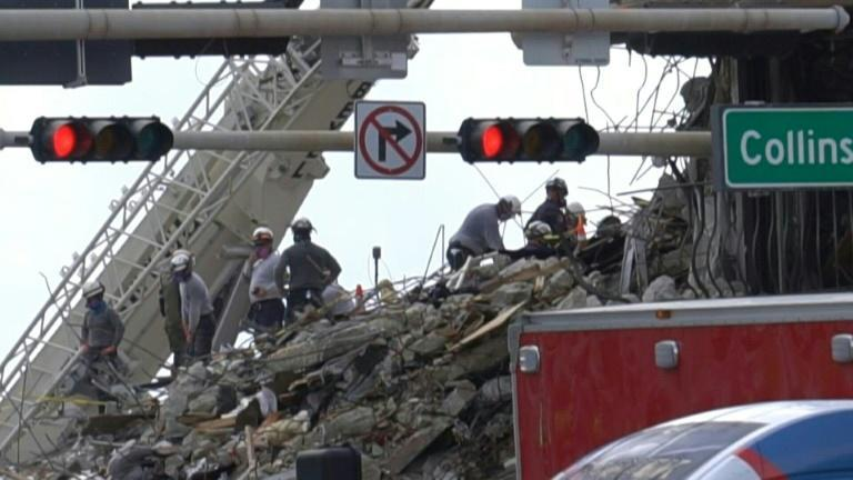 Search and rescue enters seventh day at US condo collapse site