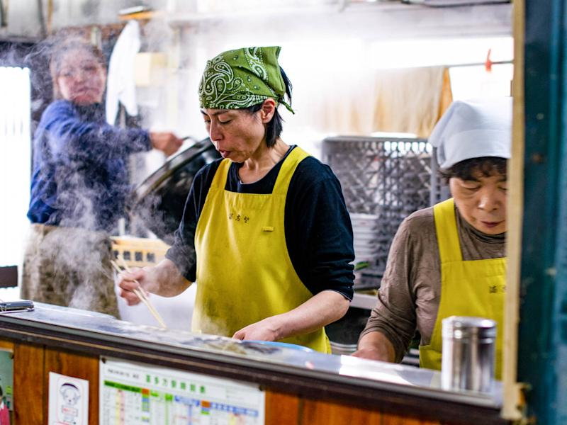Inside the kitchen at Makoto Shokudo | Natalie B. Compton