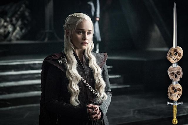 <p>Is Daenerys the most likely person to end up on the Iron Throne when all is said and done? Yes. But that's frequently the refrain heard moments before someone's head is lopped off or someone is filled full of arrows or the room fills with wildfire. George R.R. Martin delights in confounding expectations with the unexpected death of protagonists.<br><br>(Photo Credit: HBO) </p>