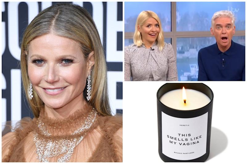 Holly Willoughby shocked viewers as she said she'd like to buy the new vagina-scented candle from Goop: PA / ITV / Goop