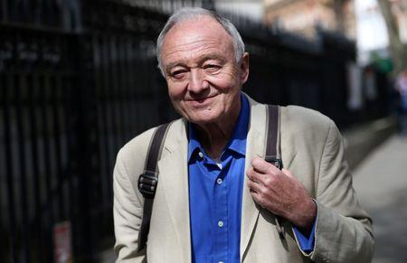 FILE PHOTO - Former London mayor Ken Livingstone leaves after appearing on the LBC radio station in London