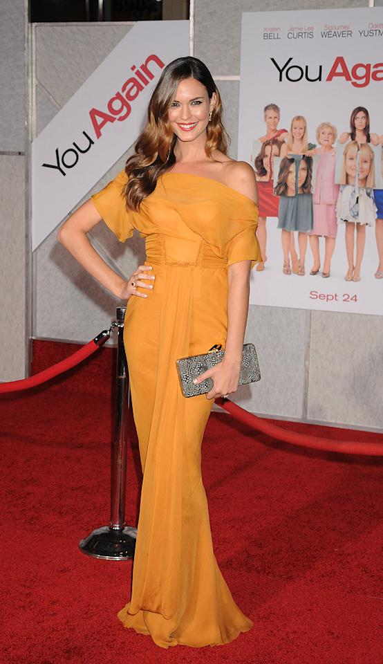 """<a href=""""http://movies.yahoo.com/movie/contributor/1808913920"""">Odette Yustman</a> attends the Los Angeles premiere of <a href=""""http://movies.yahoo.com/movie/1810111331/info"""">You Again</a> on September 22, 2010."""
