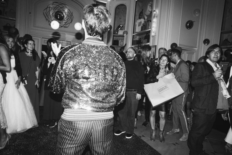 The scene from Giovanna Battaglia's release party for her latest book Gio Graphy: Fun in the Wild World of Fashion, hosted at Bergdorf Goodman during New York Fashion Week.