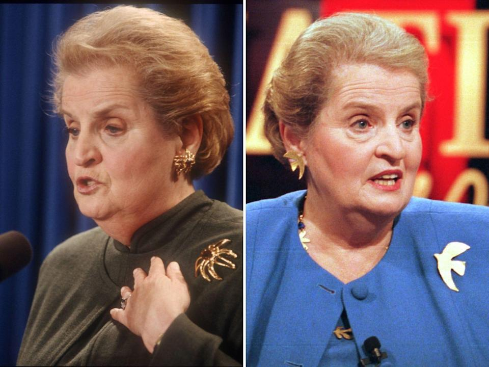 madeline albright sec of state brooches jewelry
