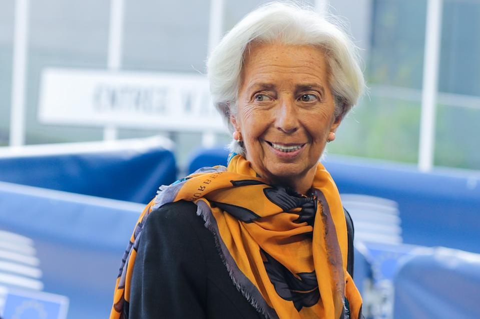 European Central Bank President Christine Lagarde arrives for the Eurogroup meeting in Luxembourg