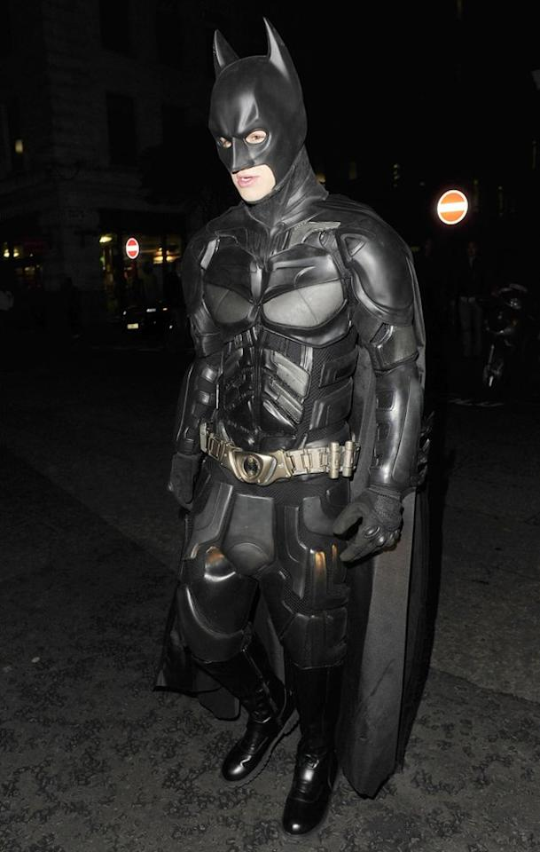 One Direction's Liam Payne showed off his muscles — well, his muscles for the night anyway — while dressed like the buff Batman. The 19-year-old partied the night away at the Funky Buddha nightclub in London. (10/28/2012)