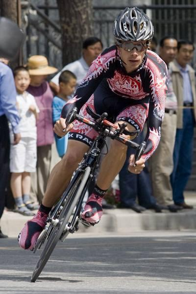 Mike Creed (Rock Racing) in the 2008 Tour of Qinghai Lake