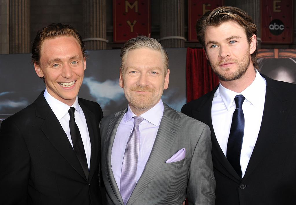 """<a href=""""http://movies.yahoo.com/movie/contributor/1808394958"""">Tom Hiddleston</a>, <a href=""""http://movies.yahoo.com/movie/contributor/1800019957"""">Kenneth Branagh</a> and <a href=""""http://movies.yahoo.com/movie/contributor/1809982254"""">Chris Hemsworth</a> attend the Los Angeles premiere of <a href=""""http://movies.yahoo.com/movie/1810026342/info"""">Thor</a> on May 2, 2011."""