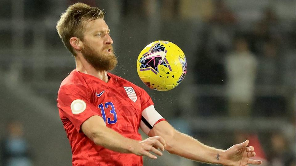 ORLANDO, FLORIDA – NOVEMBER 15: Tim Ream during a CONCACAF Nations League match against Canada (Photo by Sam Greenwood/Getty Images)
