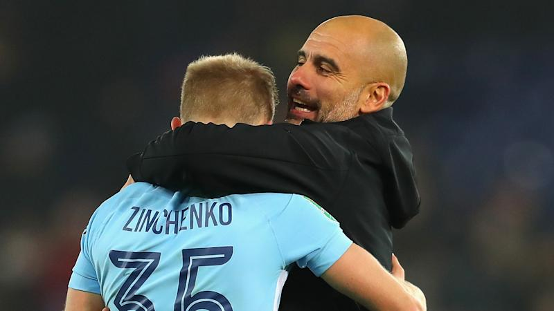 Zinchenko responds to wife's criticism of Guardiola after Manchester City boss blamed for Champions League failure