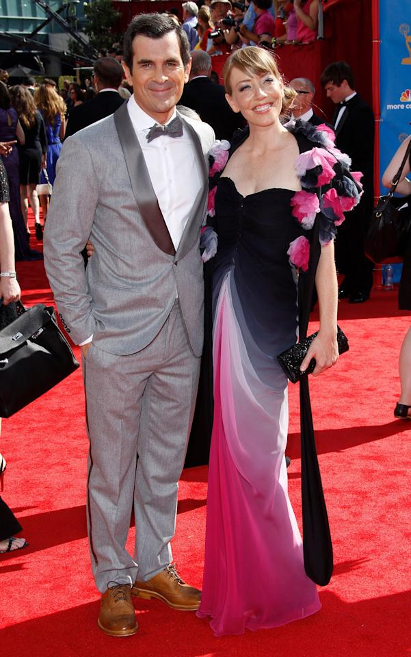 Actor Ty Burrell (L) and guest attend the 62nd Annual Primetime Emmy Awards at Nokia Theatre Live L.A. on August 29, 2010 in Los Angeles, California.