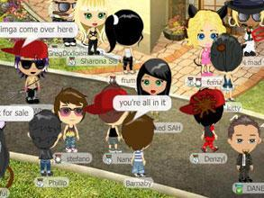 YoVille's chat feature