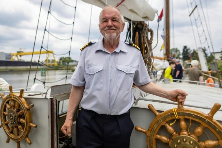 """Waldemar Rzeznicki is captain of the nearly 18-metre (58-foot) boat, which he describes as """"unique"""""""