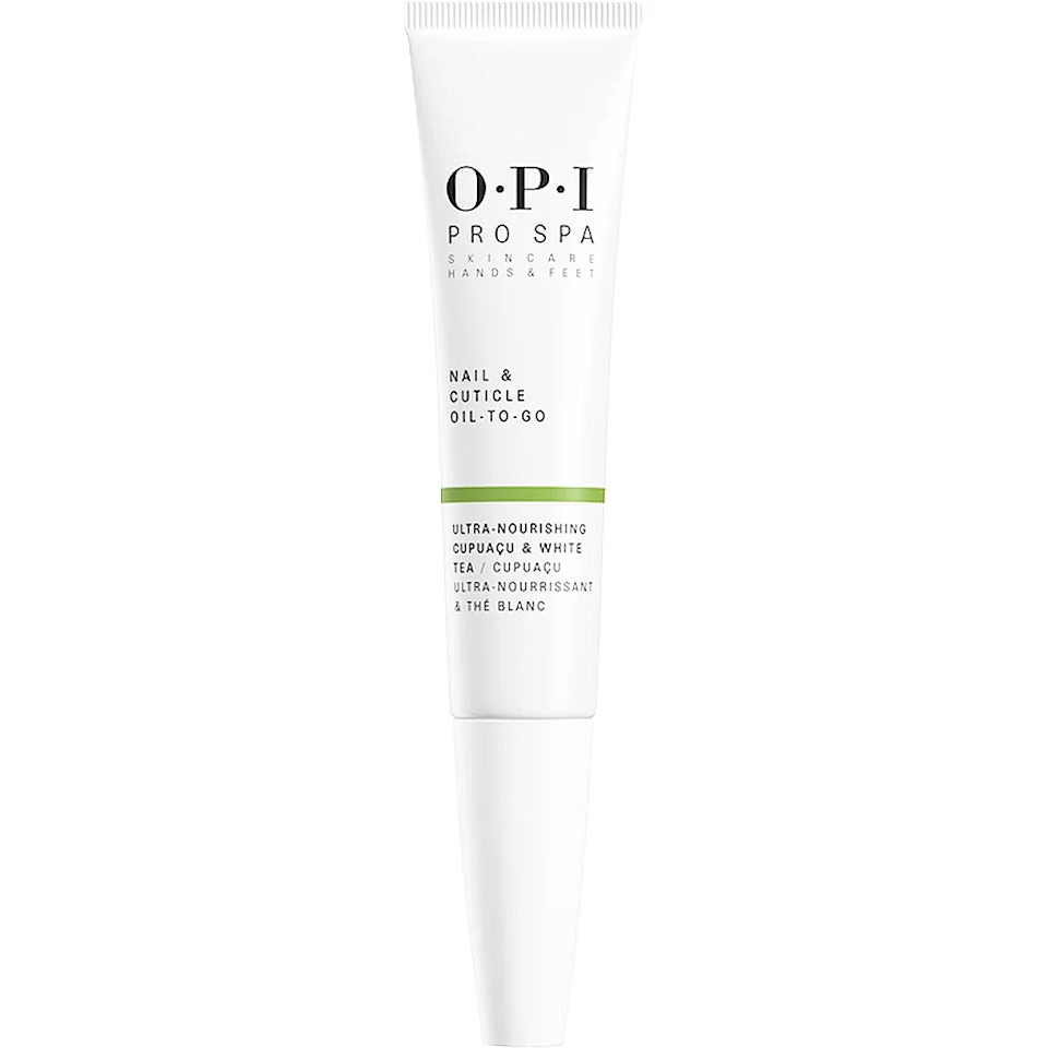 """Although her regular trips to the nail salon may be a self-care treat of the past, you can still make sure her cuticles stay healthy. Pair this convenient on-the-go cuticle oil with OPI's <a href=""""https://fave.co/3naJrQT"""" rel=""""nofollow noopener"""" target=""""_blank"""" data-ylk=""""slk:Mini 4-Pack of Lacquers"""" class=""""link rapid-noclick-resp"""">Mini 4-Pack of Lacquers</a> for the perfect gift set. <br><br><strong>OPI</strong> Nail Strengthener, $, available at <a href=""""https://go.skimresources.com/?id=30283X879131&url=https%3A%2F%2Fwww.opi.com%2Fshop-products%2Fnail-care%2Ftreatments-strengtheners%2Fnail-strengthener"""" rel=""""nofollow noopener"""" target=""""_blank"""" data-ylk=""""slk:OPI"""" class=""""link rapid-noclick-resp"""">OPI</a><br><br><strong>OPI</strong> ProSpa Nail & Cuticle Oil To - Go, $, available at <a href=""""https://go.skimresources.com/?id=30283X879131&url=https%3A%2F%2Ffave.co%2F36kJsuV"""" rel=""""nofollow noopener"""" target=""""_blank"""" data-ylk=""""slk:Ulta"""" class=""""link rapid-noclick-resp"""">Ulta</a>"""