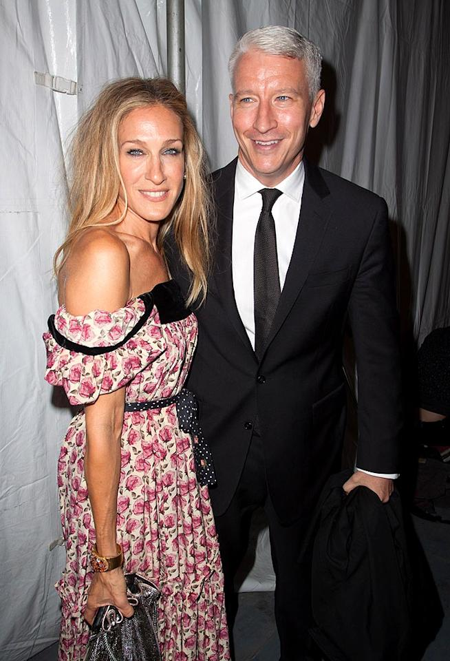 "Style icon Sarah Jessica Parker and CNN's Anderson Cooper both had front row seats for the Spring 2011 Diane von Furstenberg fete on Sunday. John Parra/<a href=""http://www.wireimage.com"" target=""new"">WireImage.com</a> - September 12, 2010"
