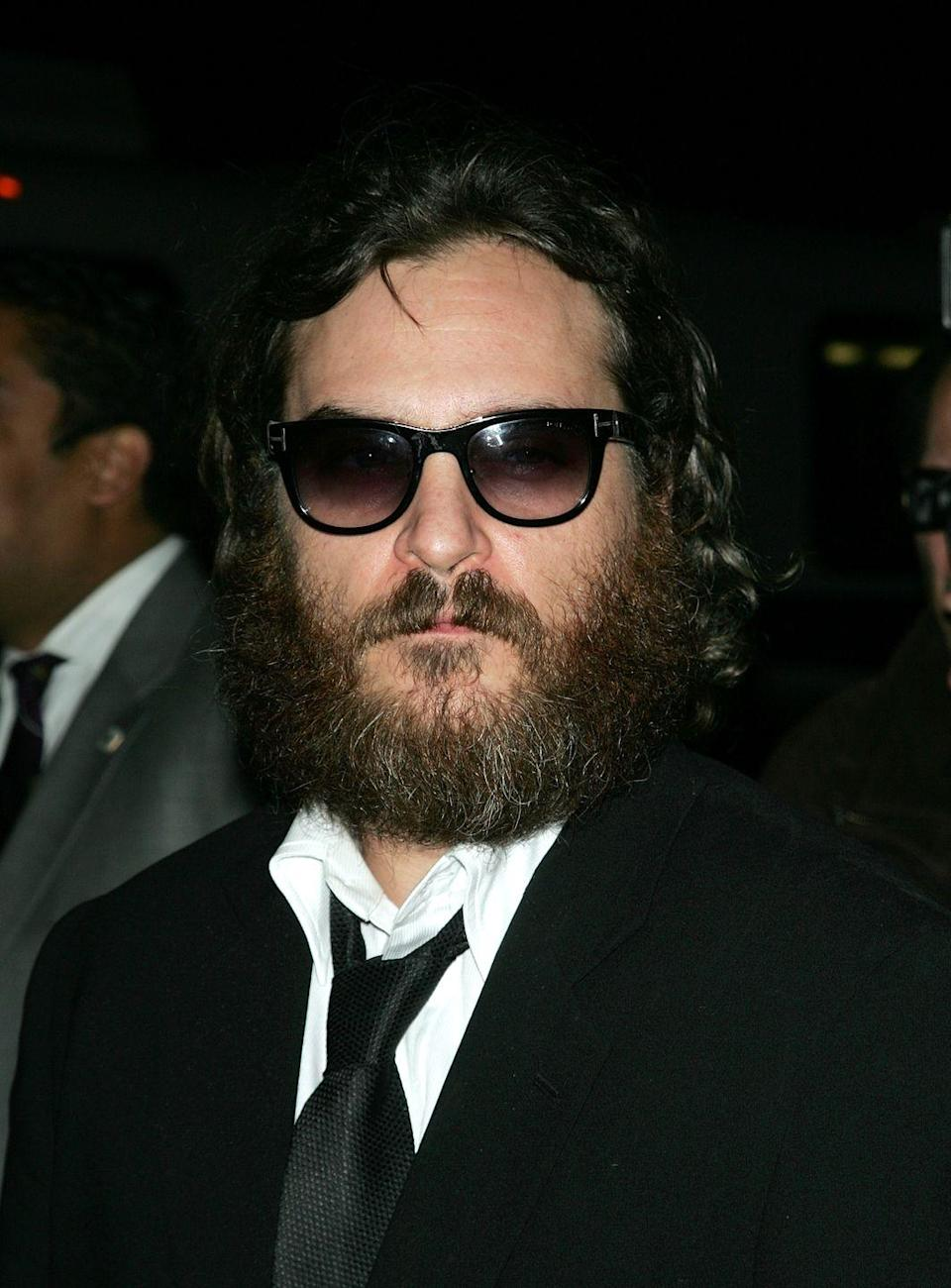 <p>Can you tell who is beneath all that hair? If you guessed Joaquin Phoenix, you're right. The actor transformed into the scruffy for his 2009 film, <em>I'm Not There. </em></p>