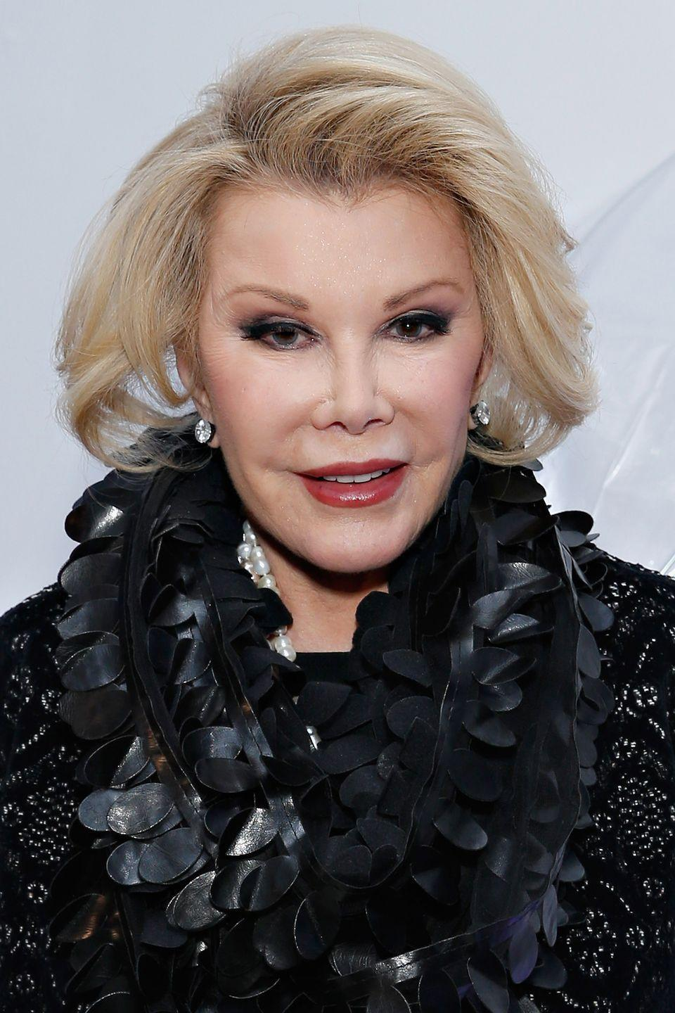 """<p>Joan Rivers was the queen of plastic surgeries, most of which she loved. But the late comedian said she didn't like the results of her liposuction. 'I didn't check out the doctor and the result wasn't smooth,' <a href=""""https://www.slice.ca/beauty/photos/stars-who-regret-their-plastic-surgery/#!celebs-plastic-surgery-regrets-joan-rivers"""" rel=""""nofollow noopener"""" target=""""_blank"""" data-ylk=""""slk:she said"""" class=""""link rapid-noclick-resp"""">she said</a>.</p>"""