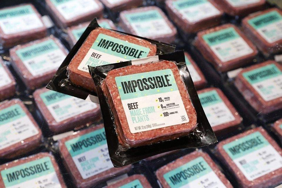 Impossible Foods' packed plant-based beef. Photo: Handout