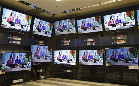 File photo of televisions on display at a Sears store in Schaumburg, Illinois, near Chicago