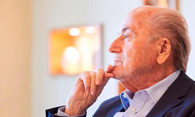 "<span class=""element-image__caption"">Fifa's former president Sepp Blatter has been of interest to France's Parquet National Financier, which questioned him last week.</span> <span class=""element-image__credit"">Photograph: Michael Buholzer/AFP/Getty Images</span>"