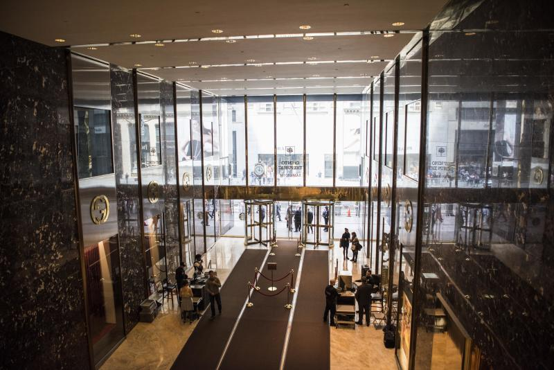 The main lobby of Trump Tower. Residents use a different entrance. (Damon Dahlen/HuffPost)
