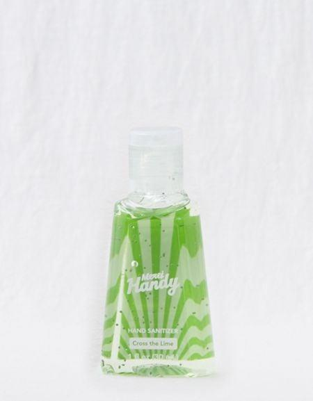 """<p>This lime <a href=""""https://www.popsugar.com/buy/Merci-Handy-Hand-Sanitizer-569740?p_name=Merci%20Handy%20Hand%20Sanitizer&retailer=ae.com&pid=569740&price=4&evar1=savvy%3Aus&evar9=47434237&evar98=https%3A%2F%2Fwww.popsugar.com%2Fsmart-living%2Fphoto-gallery%2F47434237%2Fimage%2F47434255%2FMerci-Handy-Hand-Sanitizer&list1=shopping%2Csoap%2Ccoronavirus&prop13=api&pdata=1"""" class=""""link rapid-noclick-resp"""" rel=""""nofollow noopener"""" target=""""_blank"""" data-ylk=""""slk:Merci Handy Hand Sanitizer"""">Merci Handy Hand Sanitizer</a> ($4) is compact and easy to carry around.</p>"""