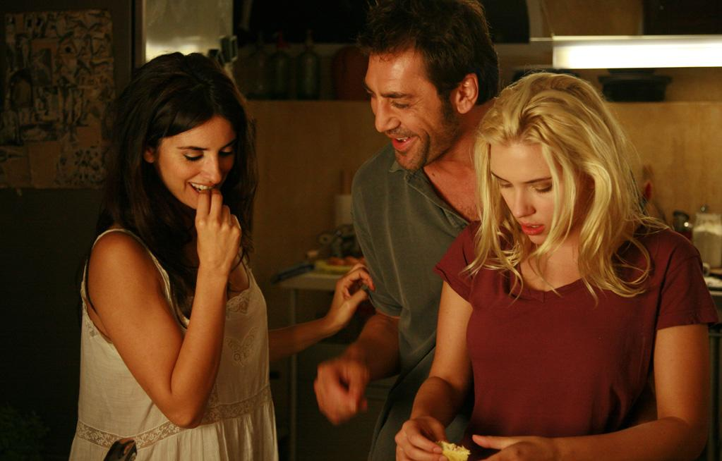"""Vicky Cristina Barcelona"": Woody Allen exercises his soft-core sexual fantasies in sunny Spain as two American beauties, Vicki (Rebecca Hall) and Cristina (Scarlett Johansson), hit Barcelona. Complications arise when Cristina settles into a domestic three-way with an artist (Javier Bardem) and his jealous ex-wife (Penelope Cruz)."