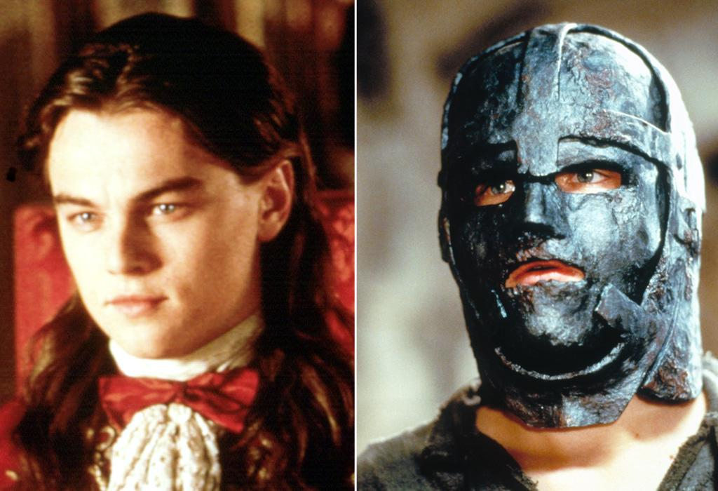 """<a href=""""http://movies.yahoo.com/movie/1800025808/info"""">THE MAN IN THE IRON MASK</a> (1998)   Actor: <a href=""""http://movies.yahoo.com/movie/contributor/1800020898"""">Leonardo DiCaprio</a>  Characters: King Louis XIV and his unfortunate twin brother Phillipe who is forced to wear that mask."""