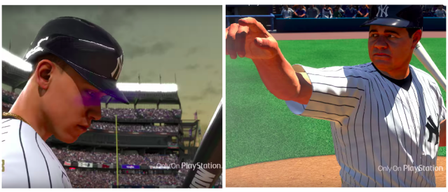 "Play as Aaron Judge or Babe Ruth in ""MLB The Show 18."" (Screenshots via Playstation on YouTube)"