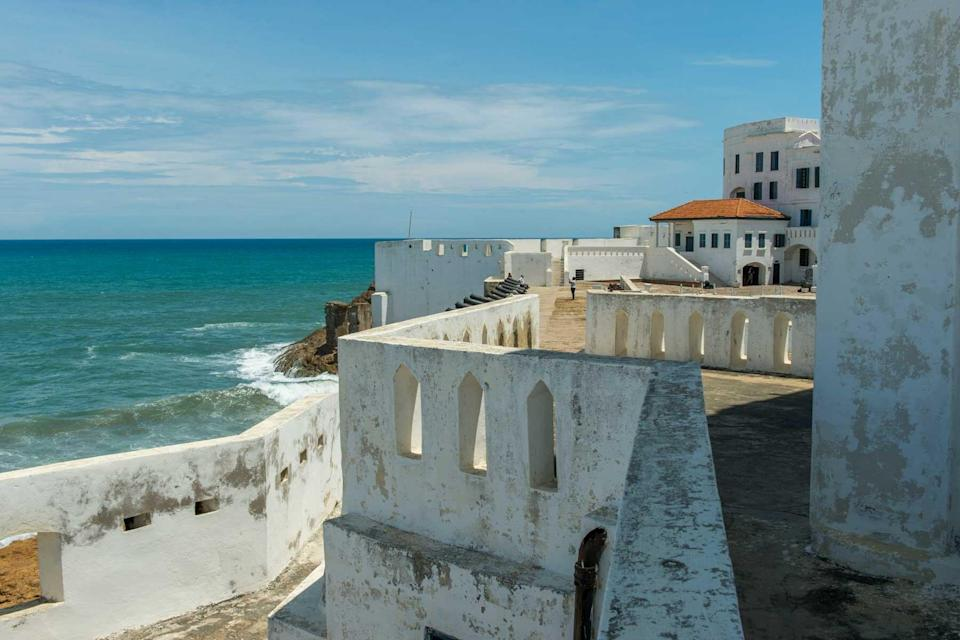 The Cape Coast Castle (UNESCO World Heritage Site) is one of a number of slave castles, fortifications in Ghana near Elmina built by Swedish traders.