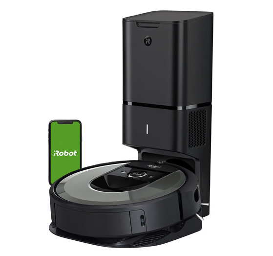 iRobot Roomba i8+ Robot Vacuum with Automatic Dirt Disposal. Image via Best Buy Canada.