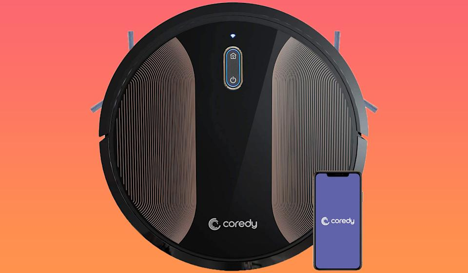 The Coredy robot vacuum cleaner can  navigate even the worst messes. (Photo: Amazon)