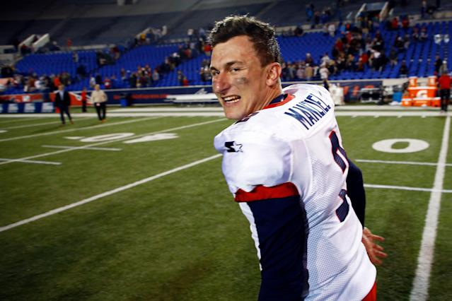 Johnny Manziel said he enjoyed his time with the AAF's Memphis Express. (AP)