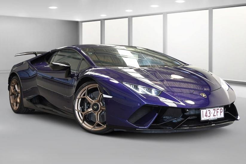The Lamborghini was confiscated after the driver committed more than 20 traffic-related offences. Source: Queensland Police
