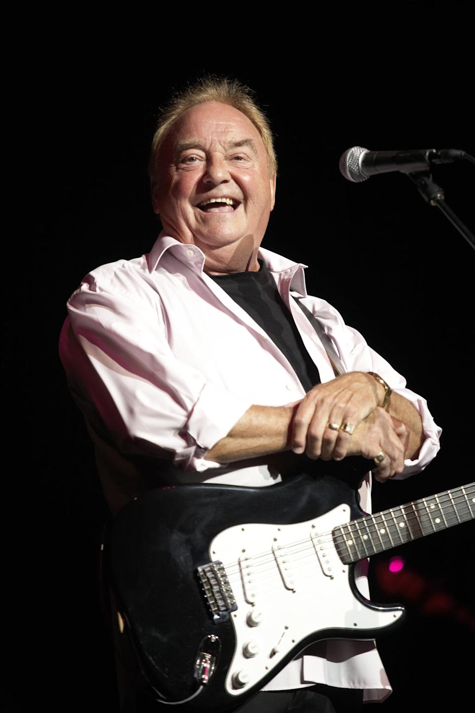 """<p>The lead singer of Gerry and the Pacemakers died in January at age 78. Marsden's friend <a href=""""http://twitter.com/PeteCityPrice/status/1345772387057467394"""" class=""""link rapid-noclick-resp"""" rel=""""nofollow noopener"""" target=""""_blank"""" data-ylk=""""slk:Pete Price announced his death"""">Pete Price announced his death</a> on Twitter, writing, """"It's with a very heavy heart after speaking to the family that I have to tell you the Legendary Gerry Marsden MBE after a short illness which was an infection in his heart has sadly passed away."""" </p>"""