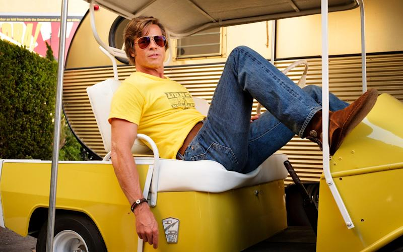 Brad Pitt in Once Upon a Time in Hollywood - © 2018 CTMG, Inc. All Rights Reserved. **ALL IMAGES ARE PROPERTY OF SONY PICTURES ENTERTAINMENT INC. FOR PROMOTIONAL USE ONLY. SALE, DUPLICATION OR TRANSFER OF THIS MATERIAL IS STRICTLY PROHIBITED.