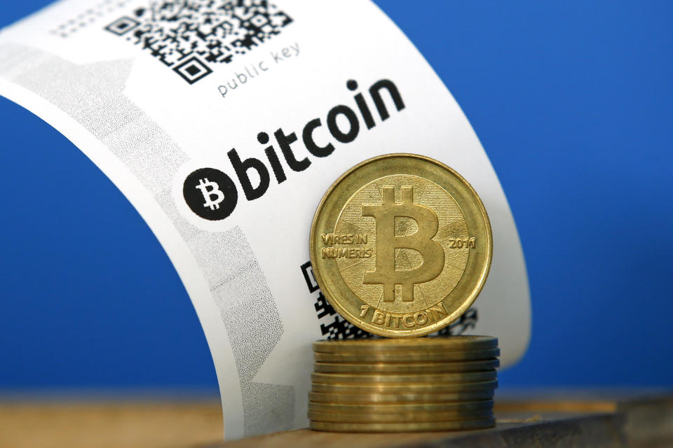 Analysts said that one major factor holding back institutional adoption of bitcoin and other cryptocurrencies is their volatility. Photo: Benoit Tessier/Reuters
