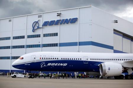The new Boeing 787-10 Dreamliner taxis past the Final Assembly Building at Boeing South Carolina in North Charleston