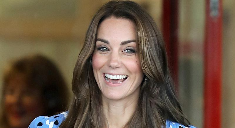 Duchess of Cambridge wore a blue patterned Altuzarra dress during a call thanking nurses across the globe amid the coronavirus pandemic