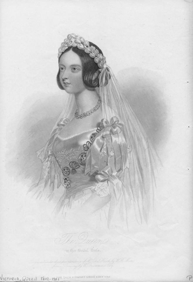 <p>Queen Victoria is credited for popularizing the white wedding dress after she wore an ivory silk gown to marry Prince Albert in 1840. Soon after their nuptials, the Queen's bridal style was copied by major dressmakers and the rest is history.</p>