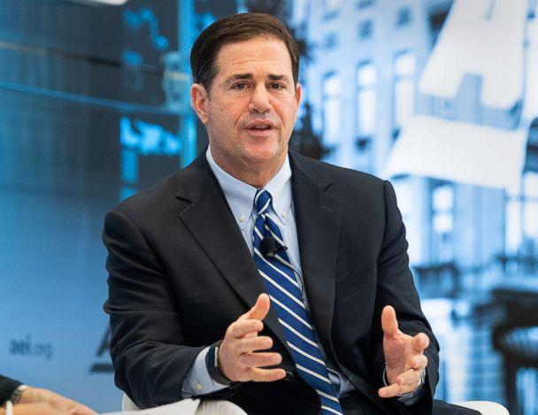 PHOTO: Arizona Governor Doug Ducey speaks at an event at the American Enterprise Institute in Washington, D.C., June 7, 2018. (LightRocket via Getty Images, FILE)