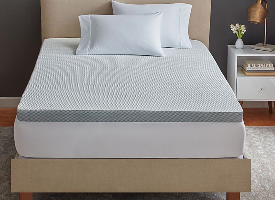 """<h3>Therapedic Tru-Cool 3-Inch Serene Foam Performance Mattress Topper</h3><br><strong>Best For:</strong> <strong>A Cloud-Like Refreshing Sleep</strong><br>Therapedic's Tru-Cool mattress is made extra supportive through billions of microscopic air capsules that ease pressure on the body.<br><br><strong>The Hype: 4 out of 5 stars</strong><br><br><strong>Sleepers Say:</strong> """"This is a bouncier, soft foam. For me personally, it is a match made in mattress topper heaven. I get excited to go to bed now. I am someone who does not like dense, slow moving foams. I do not like a firm bed. I have a firm mattress and purchased this to get the feel of sleeping on a soft comfy cloud and that's what I received. If you are someone who prefers soft and bouncy toppers then you will love it. If you are someone who likes a firm dense foam then I don't think it's for you. I recommend going into the store and feeling the sample they have. My quality of sleep has sky rocketed. Also, it is made in the USA and that's a big deal to me."""" <em>– Ginger, Bed Bath & Beyond Reviewer</em><br><br><em>Shop </em><strong><em><a href=""""https://www.bedbathandbeyond.com/store/brand/therapedic/225/"""" rel=""""nofollow noopener"""" target=""""_blank"""" data-ylk=""""slk:Therapedic"""" class=""""link rapid-noclick-resp"""">Therapedic</a></em></strong><br><br><strong>Therapedic</strong> Tru-Cool® 3-Inch Serene Foam® Performance Mattress Topp, $, available at <a href=""""https://go.skimresources.com/?id=30283X879131&url=https%3A%2F%2Fwww.bedbathandbeyond.com%2Fstore%2Fproduct%2Ftherapedic-tru-cool-3-inch-serene-foam-performance-mattress-topper%2F5227320"""" rel=""""nofollow noopener"""" target=""""_blank"""" data-ylk=""""slk:Bed Bath & Beyond"""" class=""""link rapid-noclick-resp"""">Bed Bath & Beyond</a>"""
